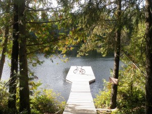 The Dock at Glinz Lake in Sooke, BC.