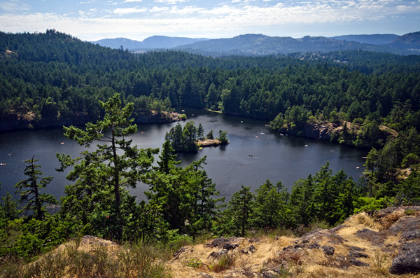 Lower Thetis Lake in View Royal near Victoria, BC.  Photograph by Mike Munroe.