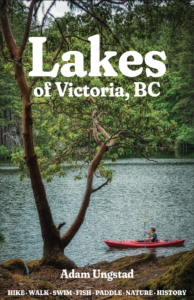 The front cover of the book 'Lakes of Victoria, BC'..
