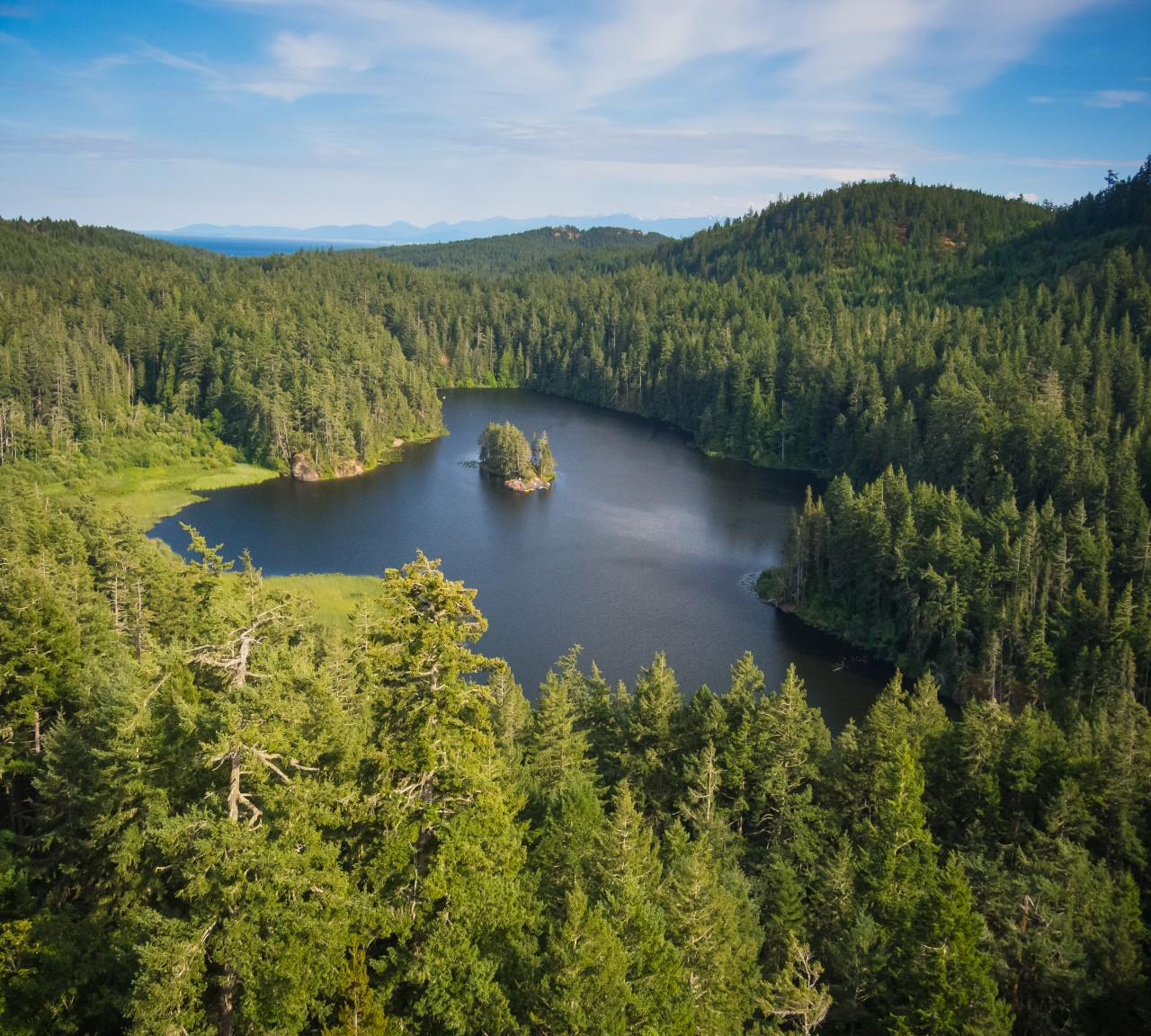 Aerial view of Matheson Lake by Mike Munroe..